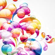abstract colorful arc-drop background. vector. - stock illustration