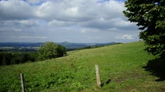 Panoramic view in the south of Baden-Wuerttemberg, Germany Stock Footage