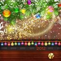 Vector ?hristmas retro background. Stock Illustration