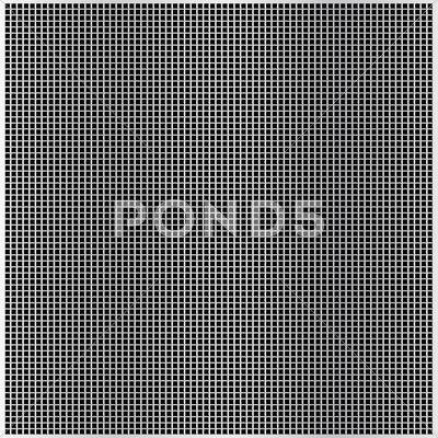 Stock Illustration of square cell metal background.