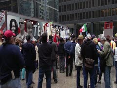 Teamsters Stage - May Day - Chicago 2012 Stock Footage
