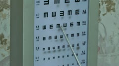 Vision test Stock Footage