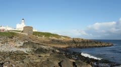 Kinnaird Head lighthouse Fraserburgh Scotland Stock Footage