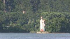 Germany - Bingen am Rhein - Mouse Tower Stock Footage