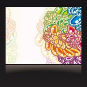 floral business card. - stock illustration