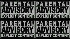 Stock Video Footage of Parental Advisory