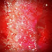 Red mosaic background - vector illustration Stock Illustration