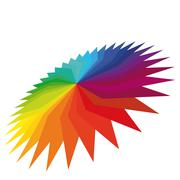3d colorful geometric flower on a white background. Stock Illustration