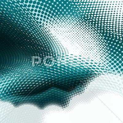 Stock Illustration of dark and light turquoise halftone background, eps format.
