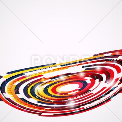 Stock Illustration of abstract techno background