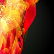 Abstract fluid floral background. vector. Stock Illustration