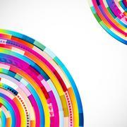 Abstract digital circles vector background Stock Illustration