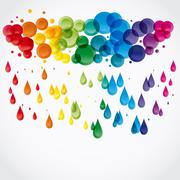 Raindrops. Stock Illustration