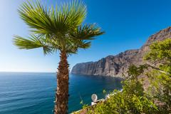 View of los gigantes cliffs. tenerife, canary islands, spain Stock Photos