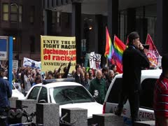May Day March - Chicago 2012 - stock footage