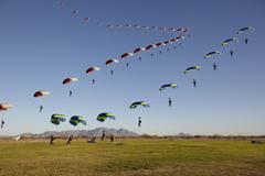 Skydiver - stock photo