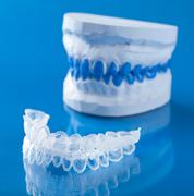 individual tooth tray for whitening - stock photo