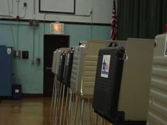 Voting Booths Stock Footage