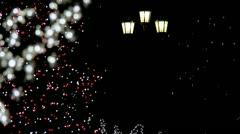 Christmas tree at night (loop) Stock Footage