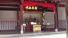 Taoist deities in Taoist temple - stock footage