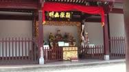Stock Video Footage of Taoist deities in Taoist temple
