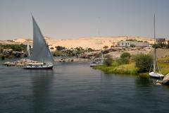 nile riverbank - stock photo
