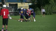 Stock Video Footage of lacrosse game getting chippy