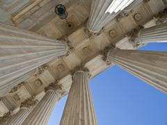 historic us supreme court building columns - stock photo
