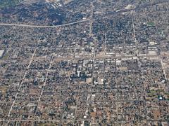 Downtown pomona california aerial Stock Photos
