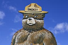 Smokey the bear fire prevention sign Stock Photos