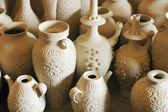 pottery articles - stock photo