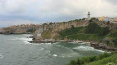Wild and beautiful coast of Black Sea Stock Footage