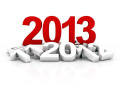 new year 2013 - stock illustration