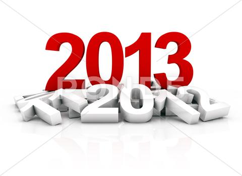 Stock Illustration of new year 2013