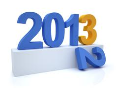 goodbye 2012 hello 2013 - stock illustration