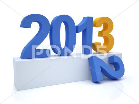 Stock Illustration of goodbye 2012 hello 2013