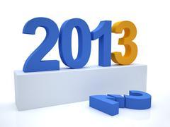 Goodbye 2012 hello 2013 Stock Illustration