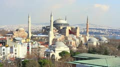Hagia Sophia in Winter - stock footage