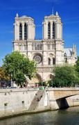 notre dame. - stock photo