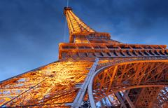 Eiffel tower at evening. Stock Photos