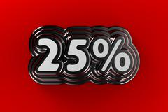 25 percent sign - stock illustration