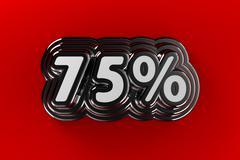 75 percent sign Stock Illustration