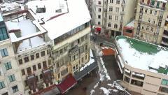 Aerial view of Beyoglu, Istanbul Stock Footage