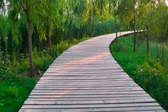 Stock Photo of wooden road