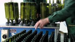 Wine bottling Stock Footage