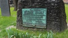 Headstone of Samuel Adams Stock Footage