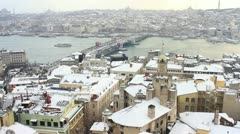 Istanbul in Winter Stock Footage