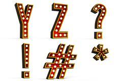 Alphabet set - part 5 - stock illustration