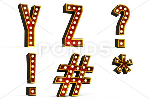 Stock Illustration of Alphabet set - part 5