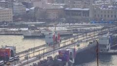 Galata Bridge, Istanbul Stock Footage